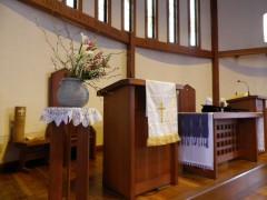 宇部緑橋教会 講壇