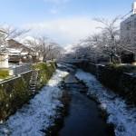 1:10雪の一の坂川