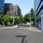 中日ビル前の交差点