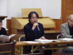 メイン報告者:小畑牧師(宇部緑橋教会・教区書記)