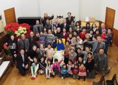クリスマス礼拝の集合写真